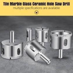 10/15db gyémánt bevonatú fúrófej 3-50mm csempe márvány üveg kerámia lyukfűrész fúró gyémánt mag bit készletekhez