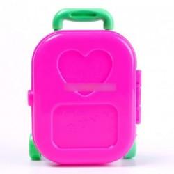 3D barbie baba gyermek játék utaás bőrönd