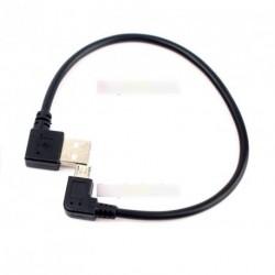 Micro USB B szögben USB 2.0 Angle adatkábel