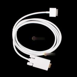 iPad 2 3 iPhone 4 4S fehér 1,8m dokk - VGA kábel