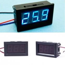 1db DC 0-30 V kék LED voltméter feszültségmérő