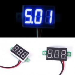 1db Mini 0-30 V kék LED voltméter feszültség mérő