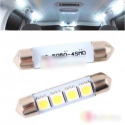 2db 42MM 4 SMD 5050 2W autó belső LED izzó