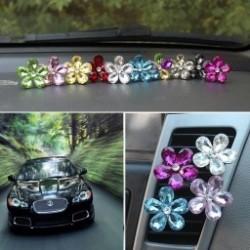 Divatos  Crystal Csillo  virág autó légkondicionáló szellőztető parfüm Auto dekoráció illatos