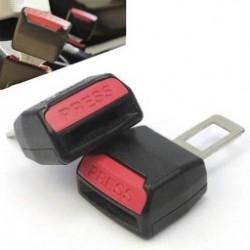 2db Autósülés övcsipesszel Univerzális biztonsági öv csatoló fekete piros új