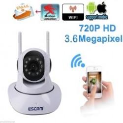 1x ESCAM G02 Dual Antenna WIFI IPIR HD 720P riasztás biztonsági kamera beépített MIC és hangszóróval