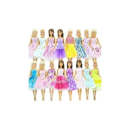 0f7d5b97ae 10 db Kézzel készített ruhája esküvői party mini ruha divat ruhák Barbie  Doll baba ruha