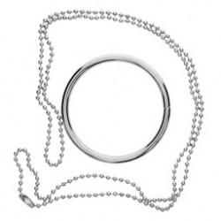 1db  kreatív fém gyűrű és lánc varázslat trükk Props Csomó gyűrű nyaklánc