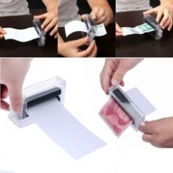 1db mágikus pénzátalakító Gépi papír mágikus  varázs trükk kiegészítő játék