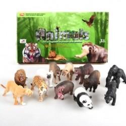 1db műanyag állati figurális modell Tigris Leopard viziló  Zsiráta Véletlenszerű Állatok Gyerekjáték