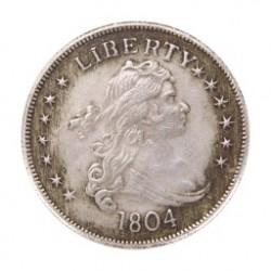 1db 1804 Liberty - S Béke dollár 1 $ ezüst érme USA Nem valuta érme gyűjtemény Antik 39mm