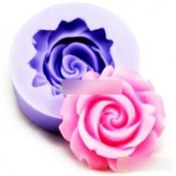 1db 3D Torta Cookie Csokoládé Rózsa Virág Fondant  Szappan vágó  Modellező Eszközök 02