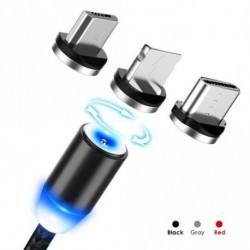 Fonott mágneses villám USB töltőkábel iPhone-hoz Samsung Type-C Micro