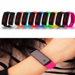 Csodálatos divatos szilikon digitális LED óra sport futás karkötő karóra