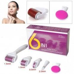 6 az 1-ben Titánium Derma Roller tű terápia Bőrápoló akne pattanás ellen