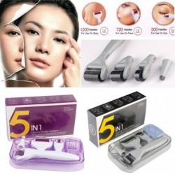 5 az 1-ben Titánium Derma Roller tű terápia Bőrápoló akne pattanás ellen