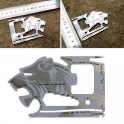 1x Multifunkciós Rozsdamentes acél üvegnyitó 18 az 1 EDC eszköz