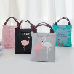 1x Rajzfilm Flamingó piknik hőtartó táska Ebéd táska Élelmiszer táska