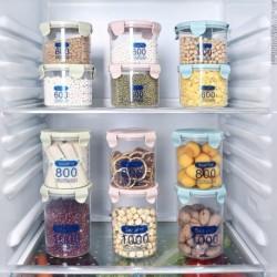 1x Konyhai műanyag doboz gabona Élelmiszer bab Rice tartó tároló