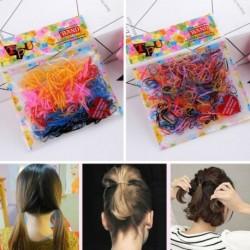 260-300db színes gumi szalagkötél lófarok elasztikus gumi rugalmas hajgum színes hajkiegészítő