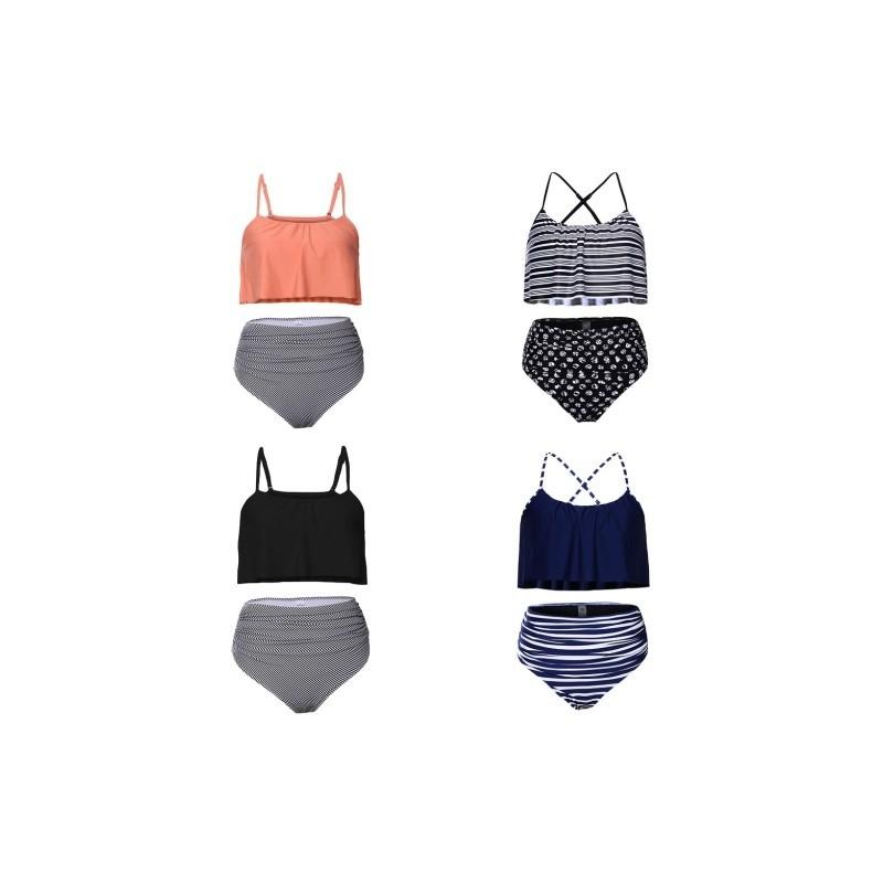 4bd132b732 1 db Új női bikini készlet magas derék pártolt melltartó fürdőruha  kétrészes strand ruha