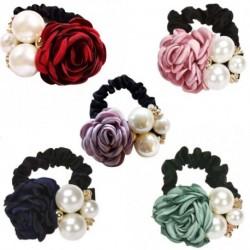 1 db Divat koreai nagy gyöngy rózsa virág hajkötő női hajformázó lányok elasztikus haj ring