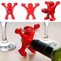 Újdonság konyhai eszköz bor üveg dugó tartó vicces