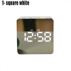 LED ébresztőóra tükör lámpaóra Éjjeli fény digitális hőmérő asztali óra