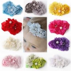 1db Divatos aranyos virág gyöngy baba fejpánt