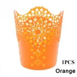 Narancs-1db - 1 / 5PCS sminkkefetartó tolltartó edénytároló Hollow Flower csipke
