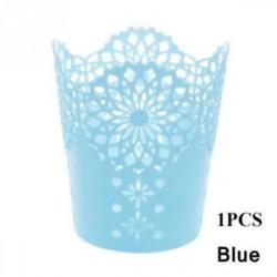 Kék 1db - 1 / 5PCS sminkkefetartó tolltartó edénytároló Hollow Flower csipke