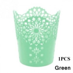 Green-1db - 1 / 5PCS sminkkefetartó tolltartó edénytároló Hollow Flower csipke