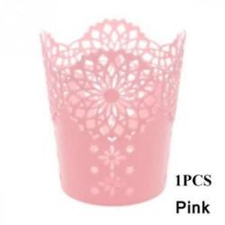 Pink-1db - 1 / 5PCS sminkkefetartó tolltartó edénytároló Hollow Flower csipke