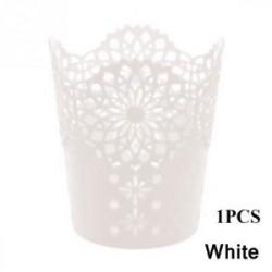 Fehér 1db - 1 / 5PCS sminkkefetartó tolltartó edénytároló Hollow Flower csipke
