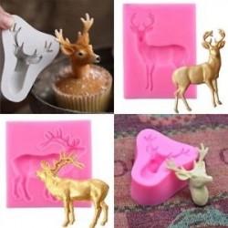 Cake 3D szilikon Fondant Mold Elk Deer alak karácsony