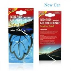 Új autó - Auto Shine Paper függő Autó illatosító Vanilla illatosított illatú illatú alak