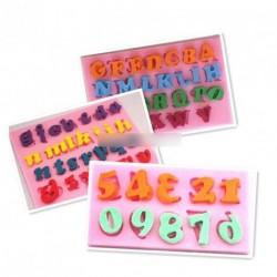 3D angol betűk szám fondant torta díszítőforma 1db