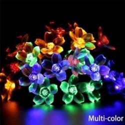 Sokszínű - 10 LED szilva alakú villanófények karácsonyfa függő dísz Esküvői Xmas