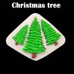 karácsonyfa - Csokoládé Sugarcraft Szilikon Fondant Mold Cake Dekoráció Mold Lapok Fa alakú