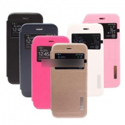 Metal Strip Bőr védő tok iPhone 6 4.7 1db