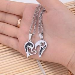 1 pár szerelem szív alakú medál nyaklánc