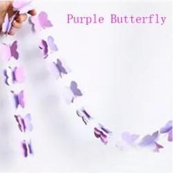 Lila pillangó - Papírvirágok Pillangók Love Star Garland Születésnapi party Szép díszítés díszítéssel