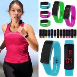 1db Digitális LED Sport Futás karkötő óra karóra