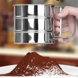Csésze stílusú rozsdamentes, cukor liszt szita